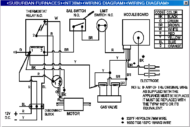 nt30mwire suburban rv furnace wiring diagram the wiring diagram Suburban Furnace Replacement Parts at readyjetset.co