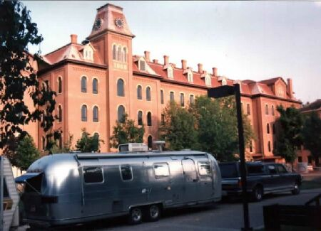 1975 Airstream at unknown college