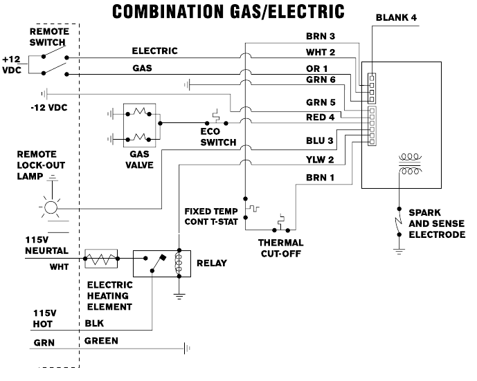 Rv Hot Water Heater Switch Wiring Diagram - Example Electrical ...